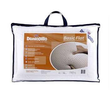 Travesseiro Basic Flat Látex Dunlopillo