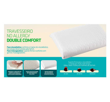 Travesseiro No Allergy Double Comfort