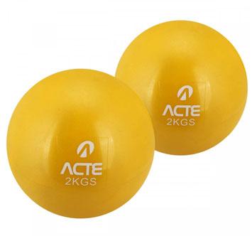 Par de bolas tonificadoras com peso de 2kg